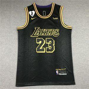 Lakers #23 LeBron James LOVE Black Jersey